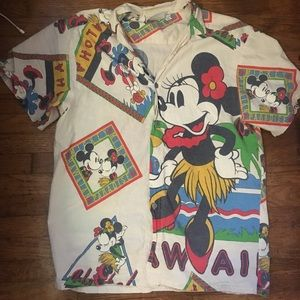 Vintage Disney Hawaiian shirt Mickey and Minnie